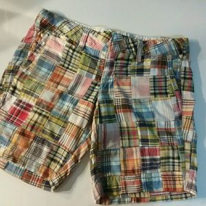 Plaid Patchwork American Eagle shorts